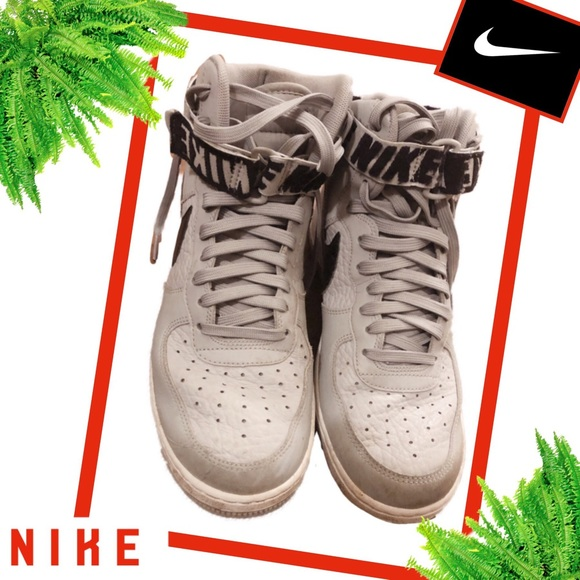 Nike Other - NIKE AIR FORCE ONE Gray High Top Sneakers